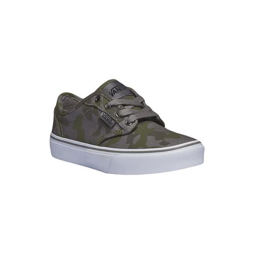 Sneakers da bambino con motivo mimetico vans, verde, 389-7194 - 13