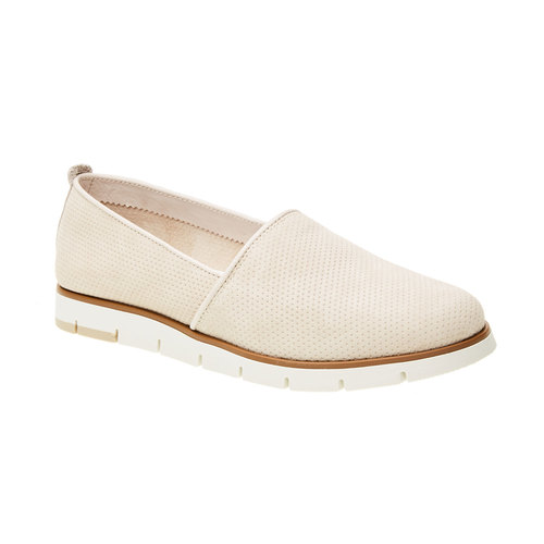 Slip-on di pelle con perforazioni flexible, giallo, 513-8200 - 13