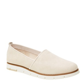 Slip-on di pelle con perforazioni flexible, beige, 513-8200 - 13