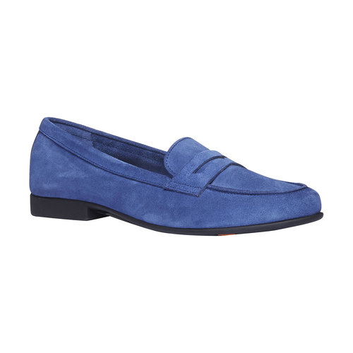 Penny Loafer di pelle flexible, blu, 513-9196 - 13
