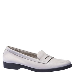 Scarpe di pelle in stile Penny Loafer flexible, 516-2112 - 13
