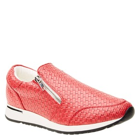 Sneakers dal design intrecciato north-star, rosso, 531-5114 - 13