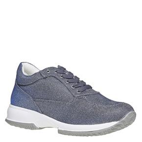 Sneakers da donna con tomaia metallizzata bata, blu, 549-9255 - 13
