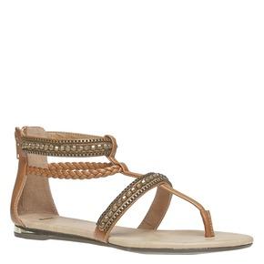 Sandali da donna con strisce decorate bata, marrone, 561-3330 - 13