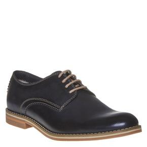 Scarpe basse di pelle in stile Derby bata, blu, 824-9745 - 13