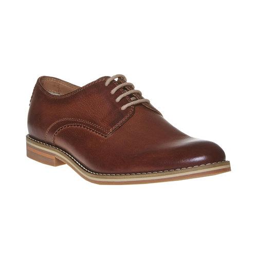 Scarpe basse di pelle in stile Derby bata, marrone, 824-4745 - 13