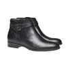 Scarpe di pelle alla caviglia bata, nero, 594-6167 - 26