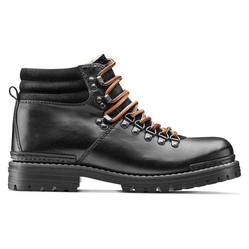 Scarpe in pelle con lacci originali bata, nero, 894-6180 - 26