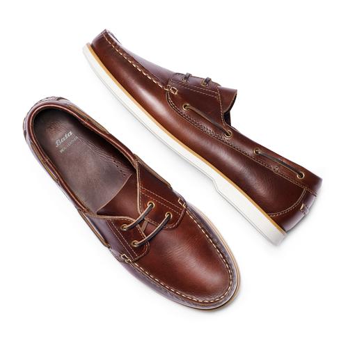 Scarpe da barca bata, marrone, 854-5174 - 26