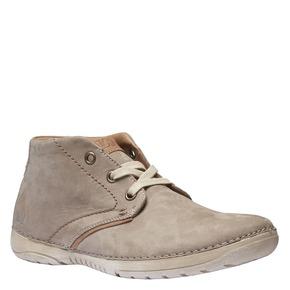Scarpe di pelle alla caviglia weinbrenner, beige, 896-2442 - 13