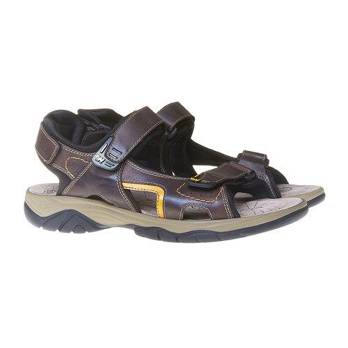 Sandali da uomo in pelle weinbrenner, marrone, 864-4218 - 26