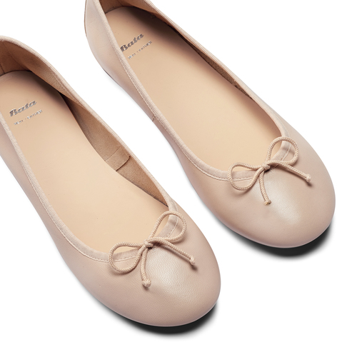 Ballerine da donna bata, beige, 524-8144 - 26