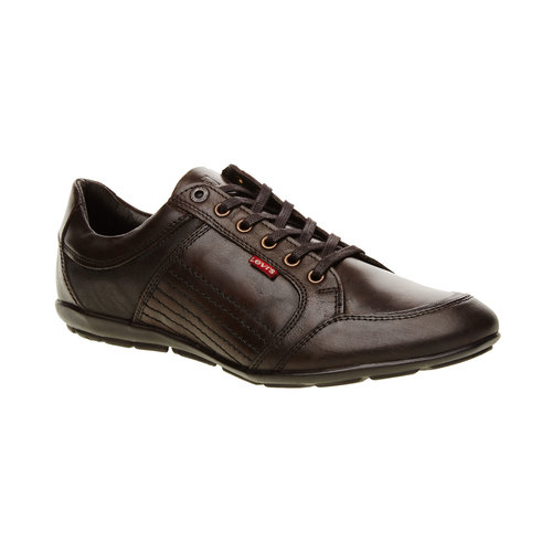 Sneakers informali di pelle levis, marrone, 844-4544 - 13