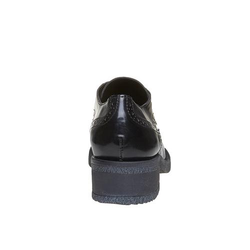 Scarpe basse da donna con tacco basso bata, nero, 521-6325 - 17