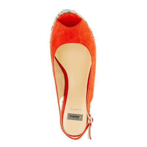 Sandali da donna con plateau bata, rosso, 769-5522 - 19