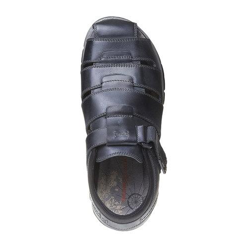 Sandali da uomo in pelle weinbrenner, nero, 864-6213 - 19