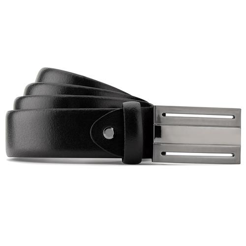 Cintura in vera pelle bata, nero, 954-6360 - 13