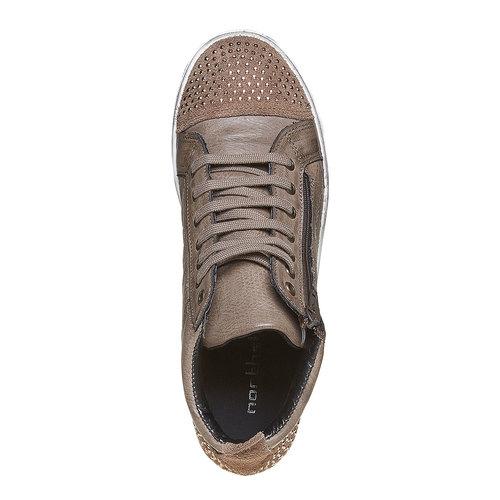 Sneakers alla caviglia con cuciture north-star, grigio, 543-2127 - 19