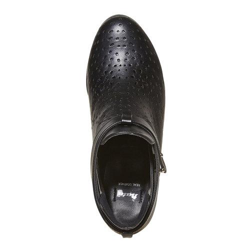Stivaletti alla caviglia con perforazioni bata, nero, 791-6627 - 19