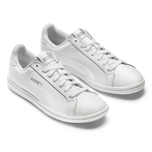 Sneakers da donna di pelle puma, bianco, 504-1110 - 19