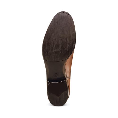Scarpe di pelle in stile Chelsea bata, marrone, 594-4448 - 19