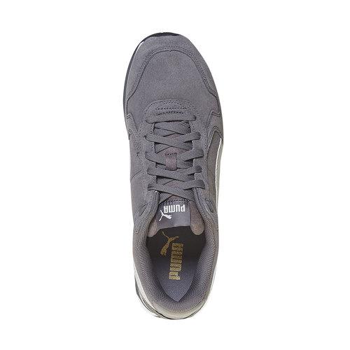 Sneakers in pelle da uomo puma, grigio, 803-2311 - 19
