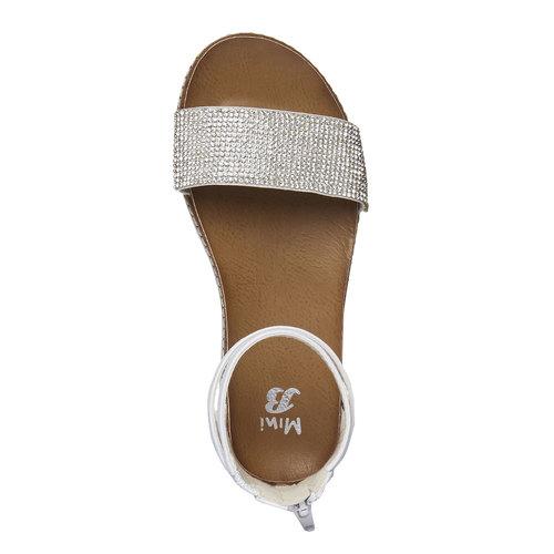 Sandali da bambina con cinturino alla caviglia mini-b, bianco, 361-1161 - 19