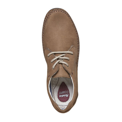 Scarpe basse informali di pelle bata-comfit, marrone, 856-3183 - 19