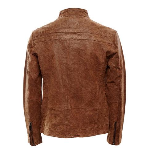 Giacca da uomo in pelle bata, marrone, 973-4109 - 26