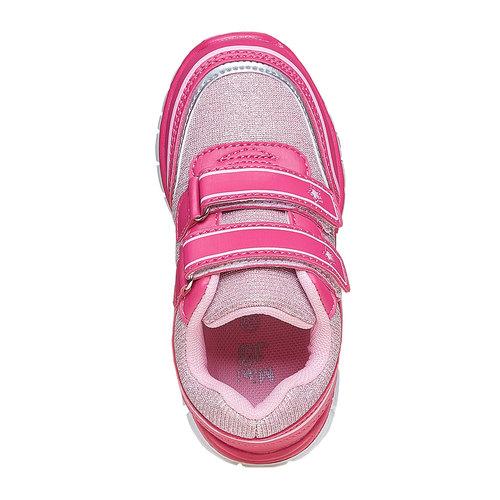 Sneakers rosa da ragazza con chiusure a velcro mini-b, rosa, 229-5175 - 19