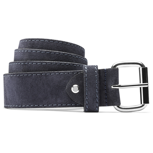 Cintura uomo pelle blu bata, blu, 953-9106 - 13
