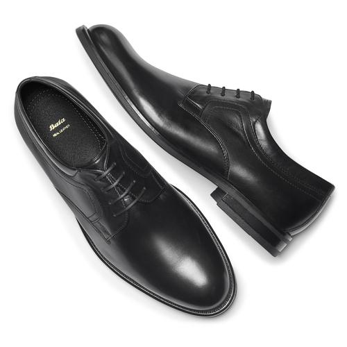 Scarpe stringate in pelle bata, nero, 824-6460 - 19