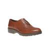 Scarpe basse da donna in stile Oxford bata, marrone, 524-3135 - 13