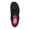 Sneakers nere sportive da donna skechers, nero, 509-6352 - 19