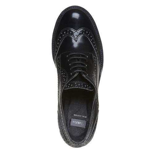 Scarpe basse da donna con tacco bata, nero, 621-6164 - 19