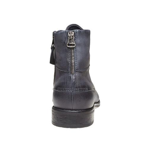 Scarpe da uomo in pelle alla caviglia bata, viola, 894-9483 - 17