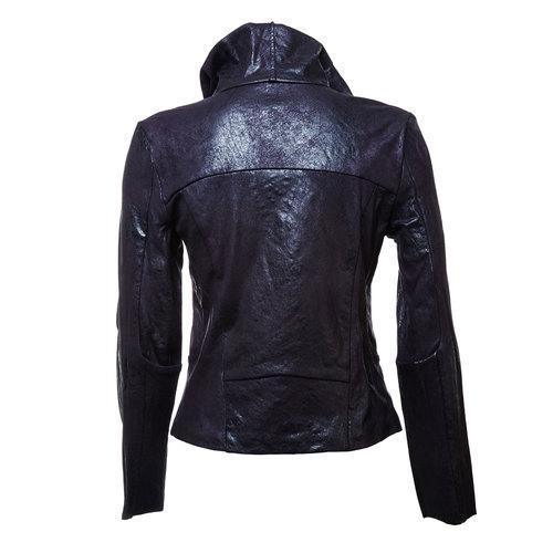Giacca casual da donna con colletto bata, nero, 979-6635 - 26