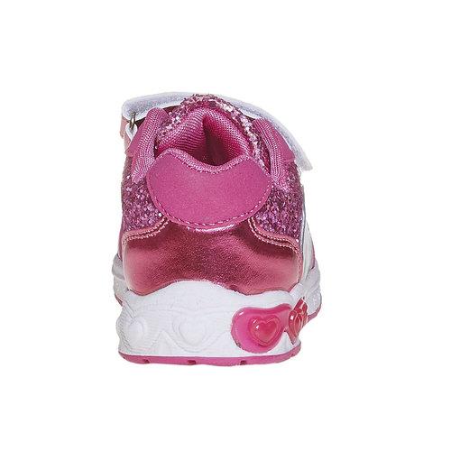 Sneakers da ragazza con glitter, rosso, 229-5171 - 17
