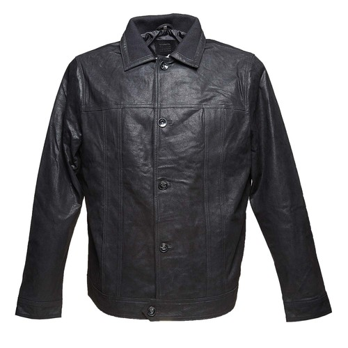 Giacca da uomo in pelle bata, nero, 973-6110 - 13