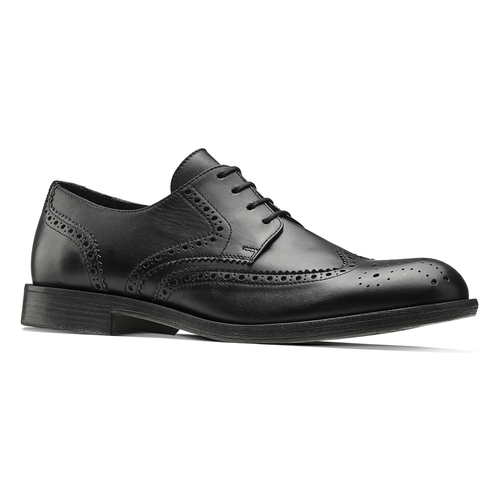 Stringate Brogue in pelle bata, nero, 824-6429 - 13