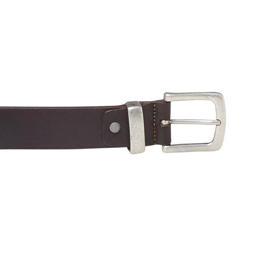 Cintura da uomo marrone in pelle bata, marrone, 954-4162 - 26