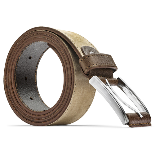 Cintura in pelle bata, beige, 956-8100 - 26