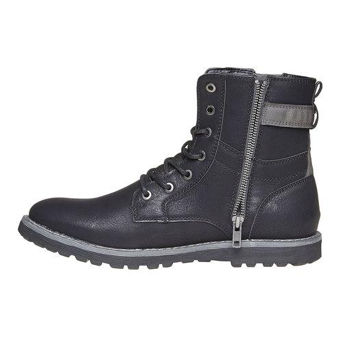 Scarpe da uomo alla caviglia bata, nero, 891-6237 - 19