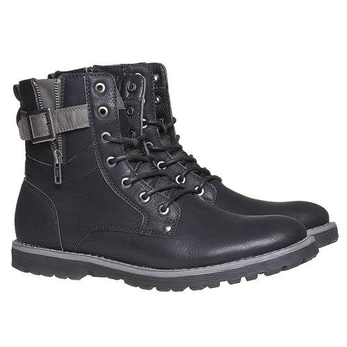 Scarpe da uomo alla caviglia bata, nero, 891-6237 - 26