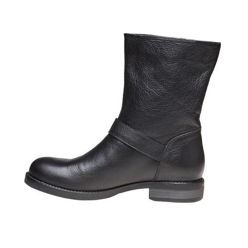 Stivali da donna con fibbia bata, nero, 594-6125 - 19