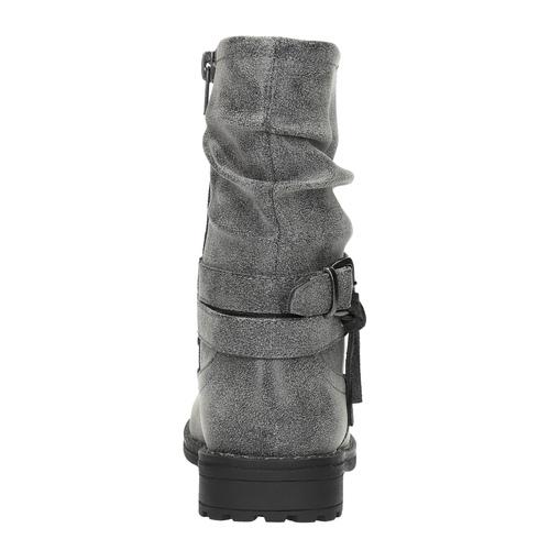 Stivali da bambina con fibbia mini-b, grigio, 391-2246 - 17