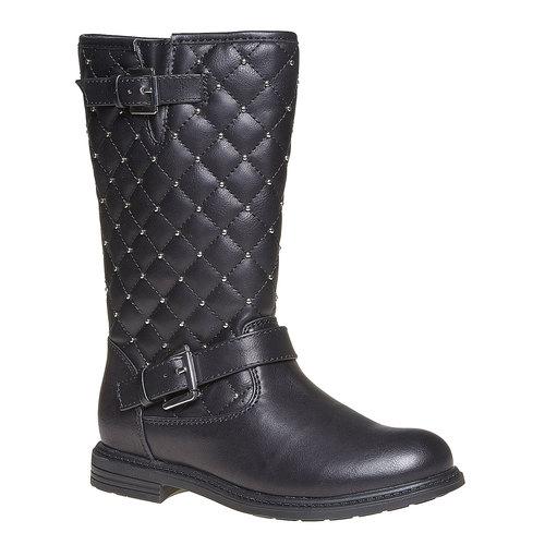 Stivali da ragazza con cuciture mini-b, nero, 391-6252 - 13