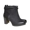 Scarpe di pelle sopra la caviglia bata, nero, 796-6310 - 26