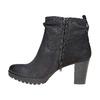 Scarpe di pelle sopra la caviglia bata, nero, 796-6310 - 19