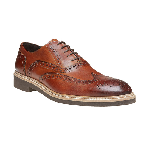 Scarpe di pelle in stile Oxford con decorazione Brogue bata-the-shoemaker, marrone, 824-3184 - 13